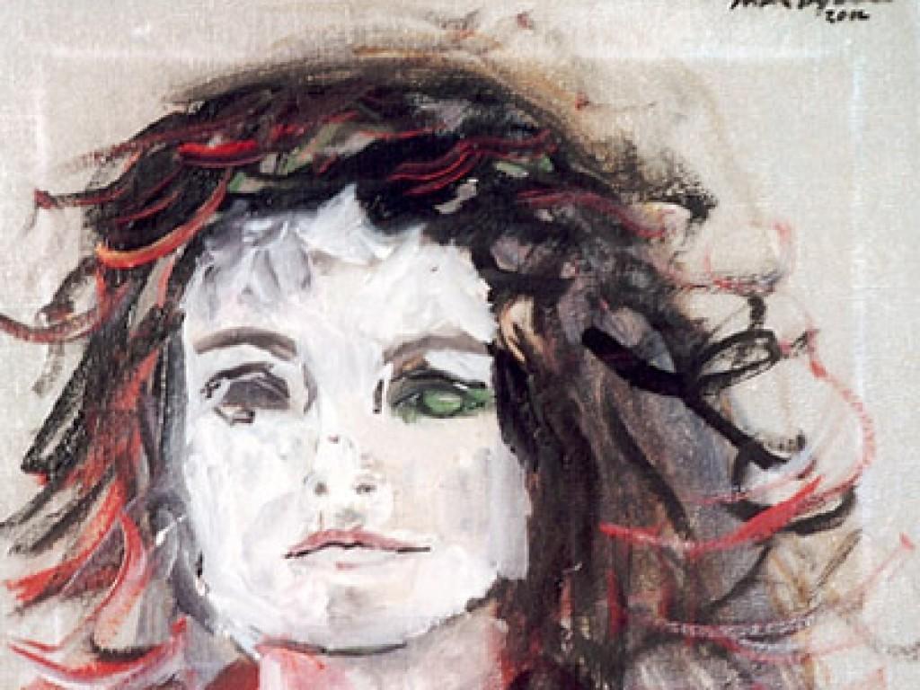 "THE ACTOR — I DON'T NEED THAT S.O.B.    14″ x 11"" oil on canvas"