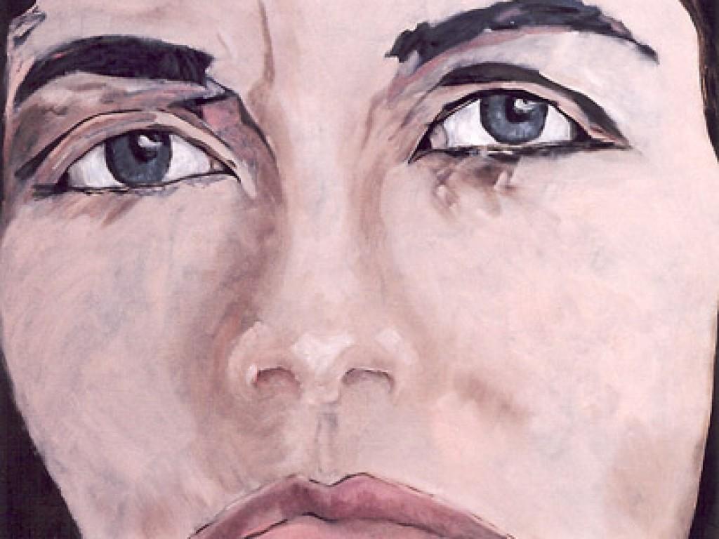 "HELENE — DO I KNOW YOU?    30″ x 24"" oil on canvas"