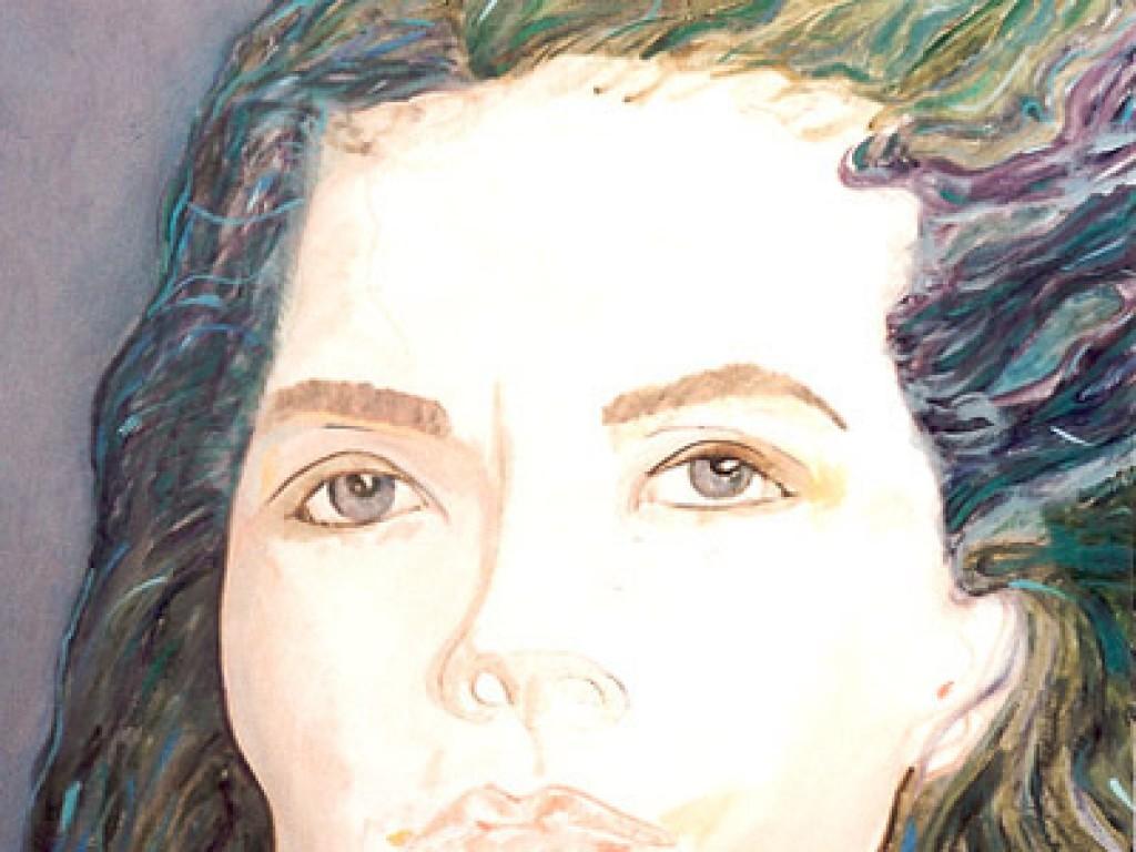 """HELENE — WET HAIR    36″ x 36"""" oil on canvas"""