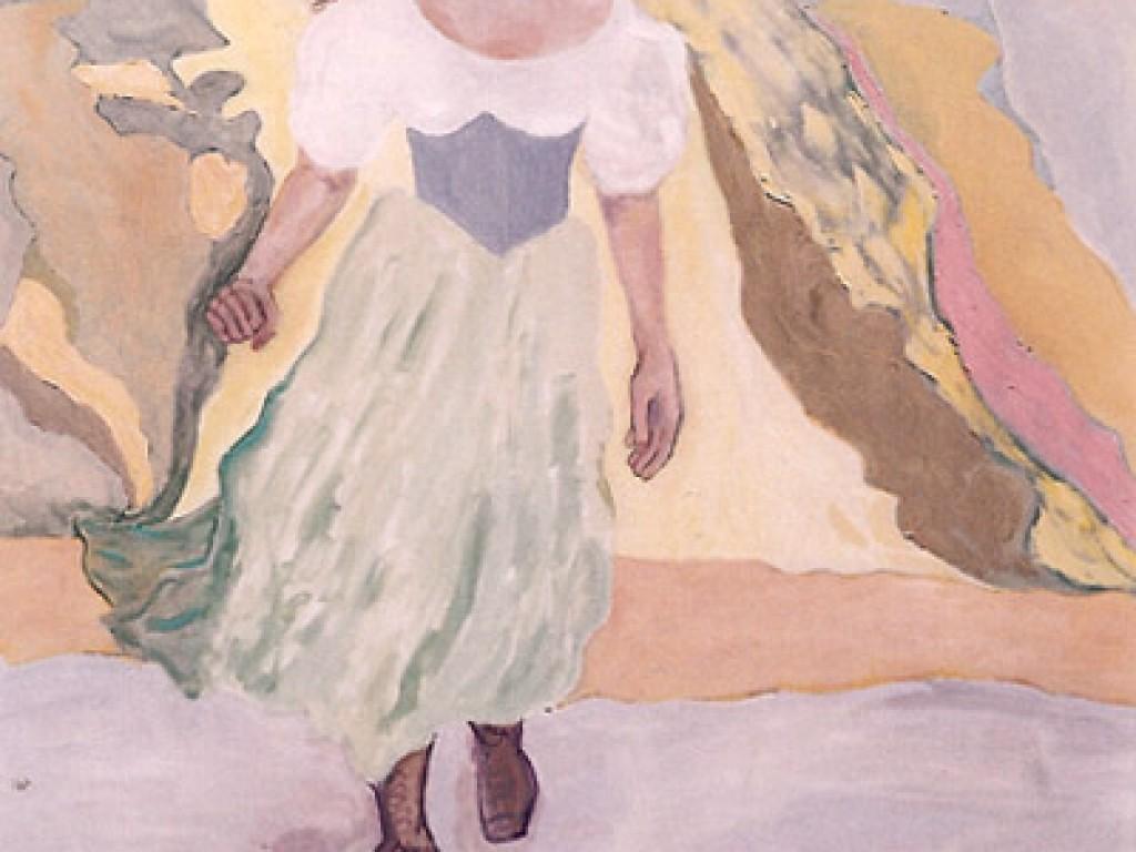 "HELENE — RUNNING    48″ x 60"" oil on canvas"