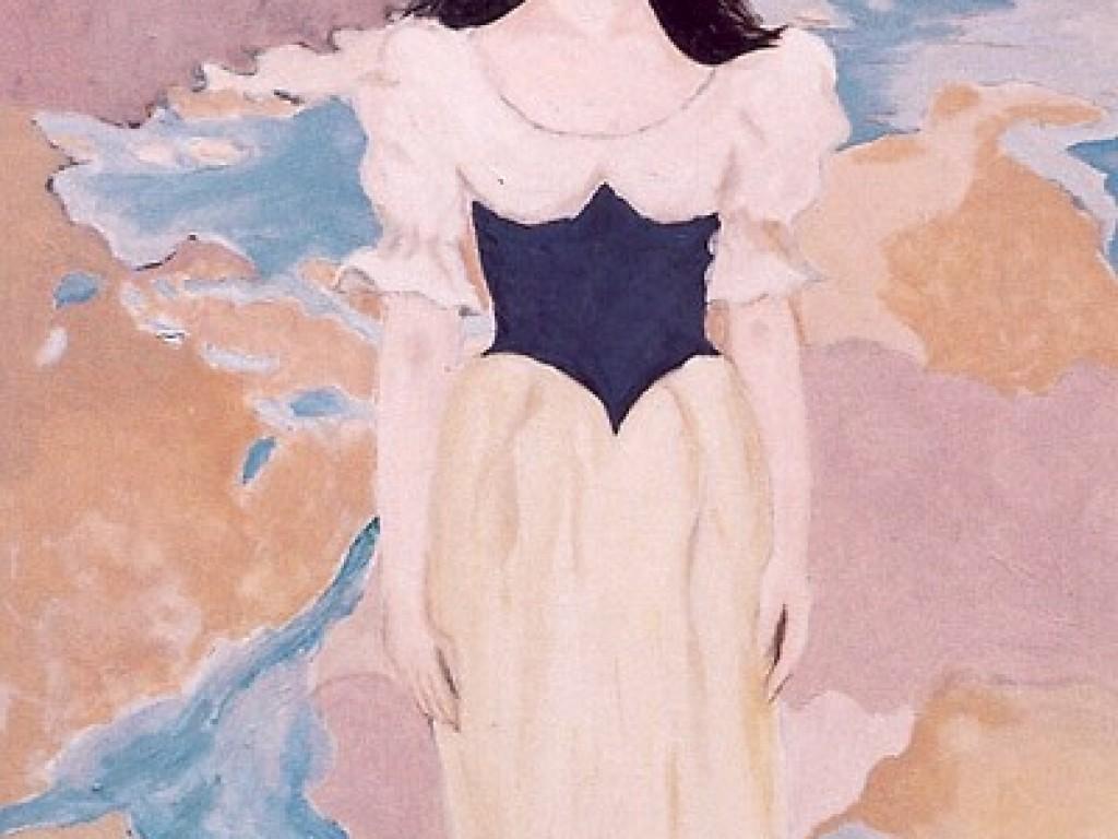 """HELENE — WAITING   36″ x 60"""" oil on canvas"""