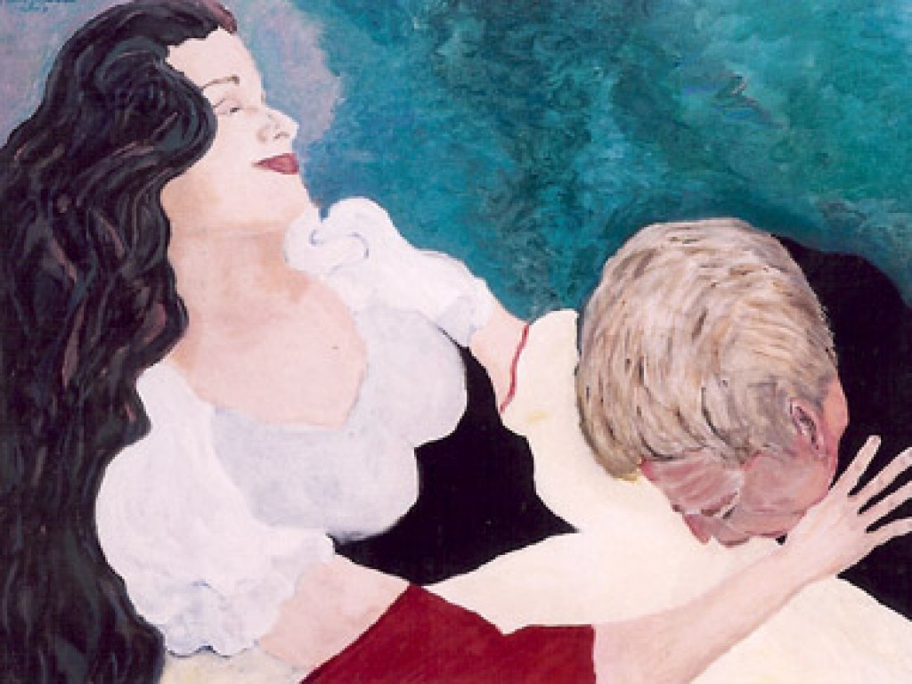 """HELENE — BARONESS VON LEPP    48″ x 36"""" oil on canvas"""