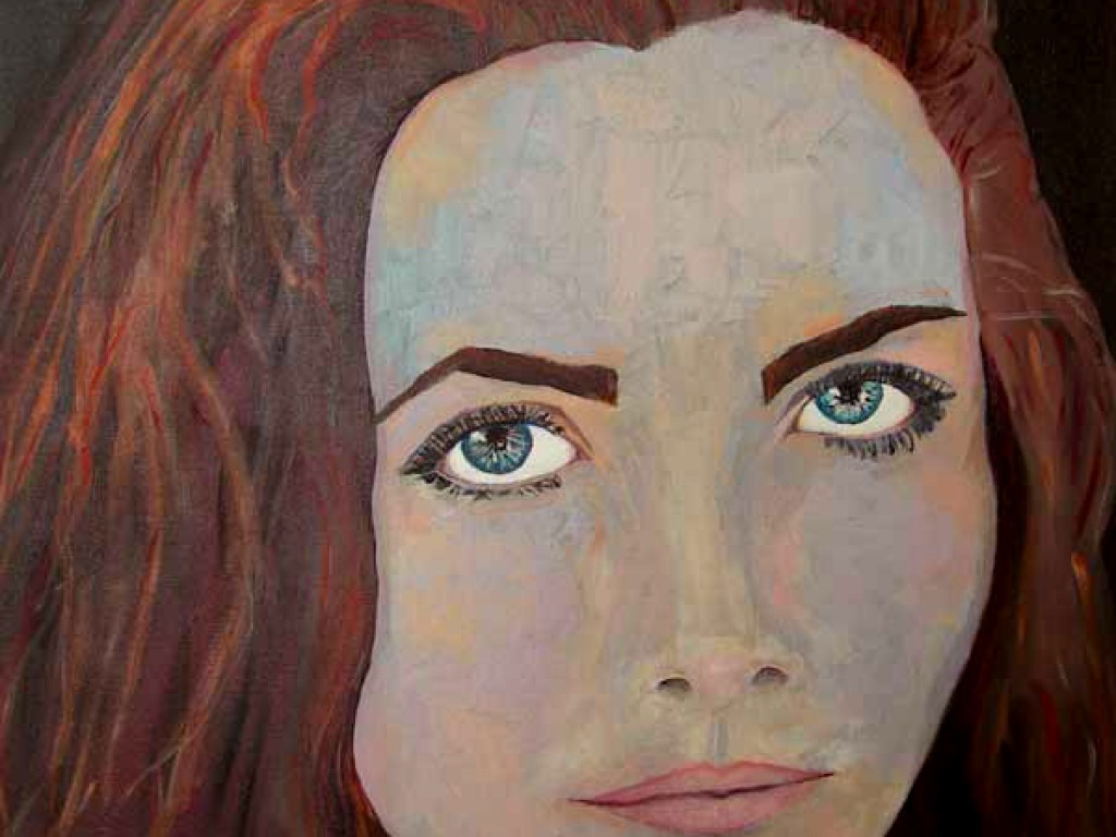 "HELENE — I AM REAL    24″ x 24"" oil on canvas"