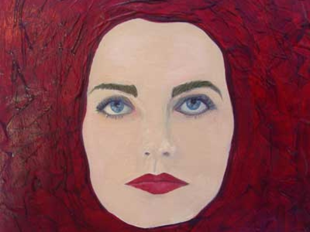"MASK-PERSONA — HERE I GO AGAIN  12"" x 12"" mixed media on canvas"
