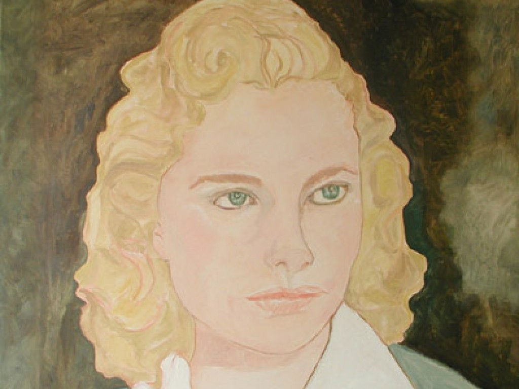 "ROXY— Confession  36"" x 36"" oil on canvas"