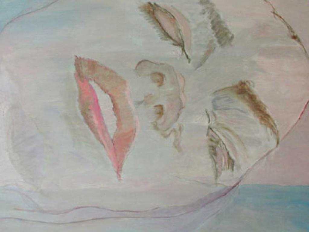 "MISTRESS SHORR — DREAMING A DREAM  36"" x 36"" oil on canvas"