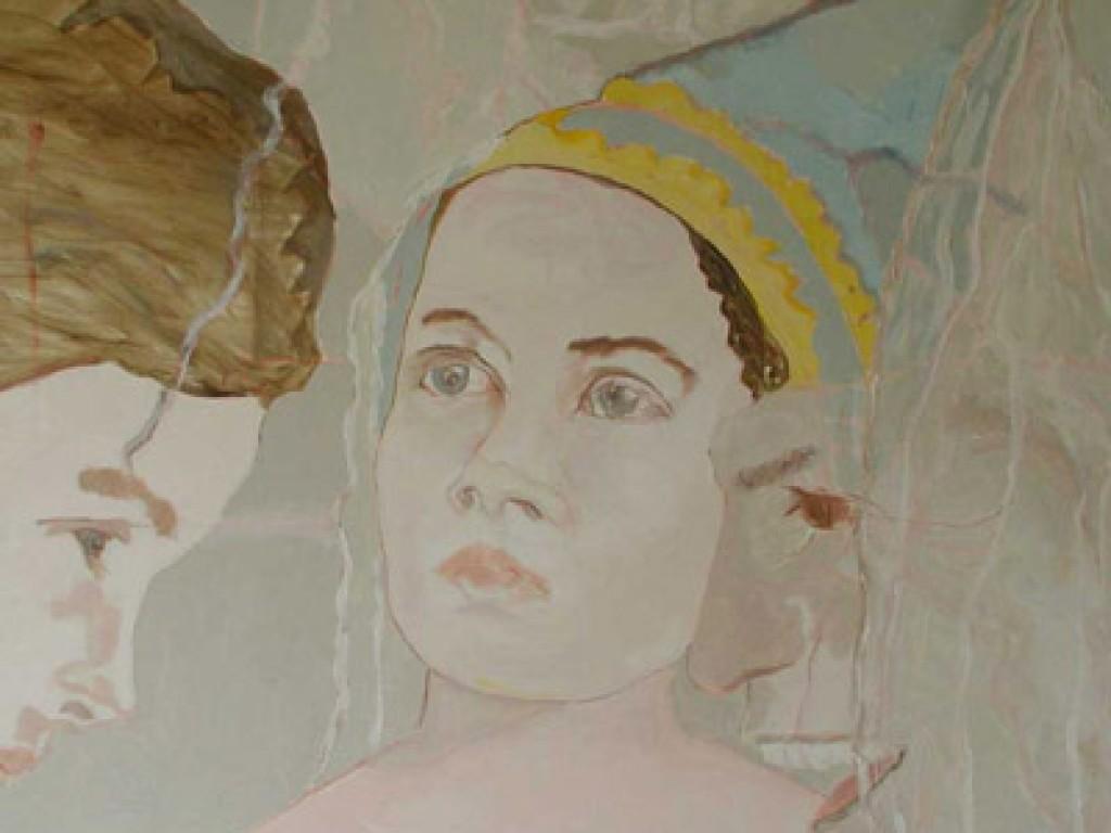 """MISTRESS SHORR — PREMONITION 36 """" x 36″ oil on canvas"""